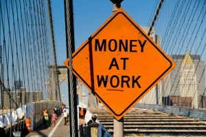 money-at-work-sign